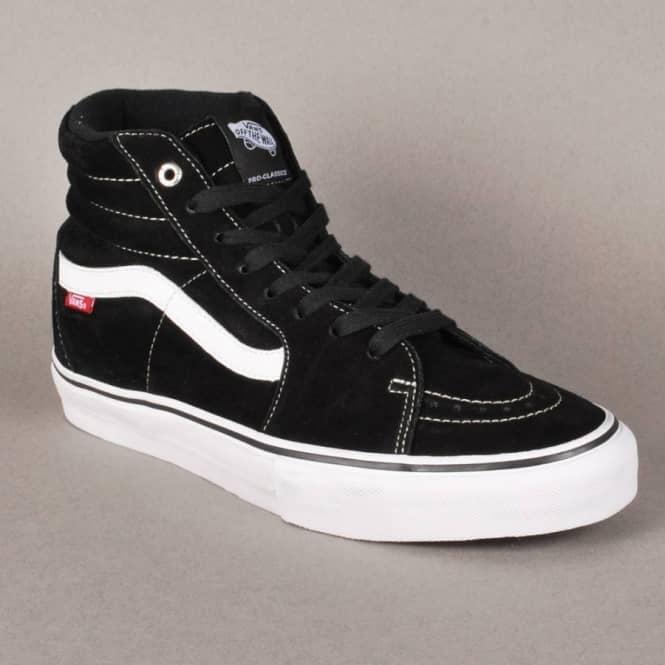 d7f61527ed Vans Sk8-Hi Pro Skate Shoes - Black White Red - SKATE SHOES from ...