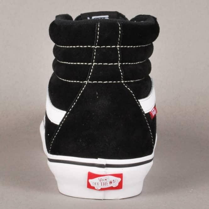 Vans Sk8-Hi Pro Skate Shoes - Black White Red - SKATE SHOES from ... 4f28540b6