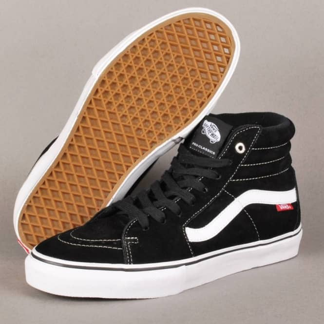 Sk8 Hi Pro Skate Shoes BlackWhiteRed