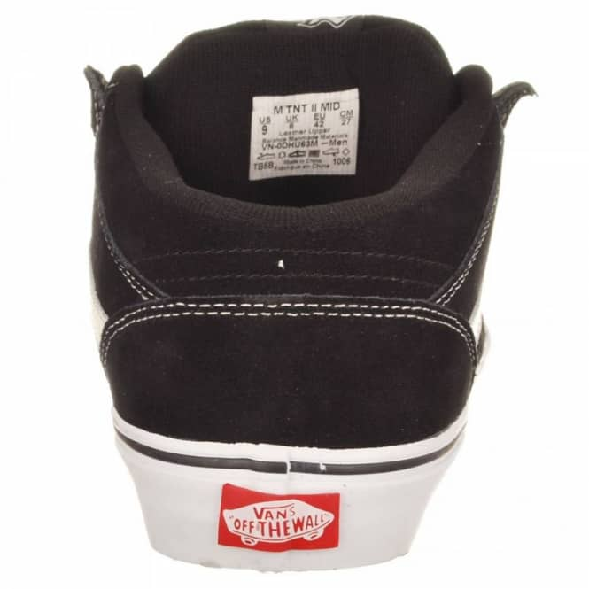 5346479ca56a Vans TNT 2 Mid Black White White - Mens Skate Shoes from Native ...