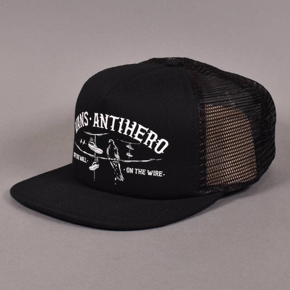 a48c0768567 Vans X Antihero Mesh Trucker Snapback Cap - Black Zinnia - SKATE ...