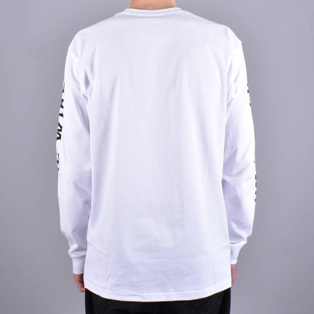 bbbc8a3700 Vans X Antihero On The Wire Long Sleeve Skate T-Shirt - White ...