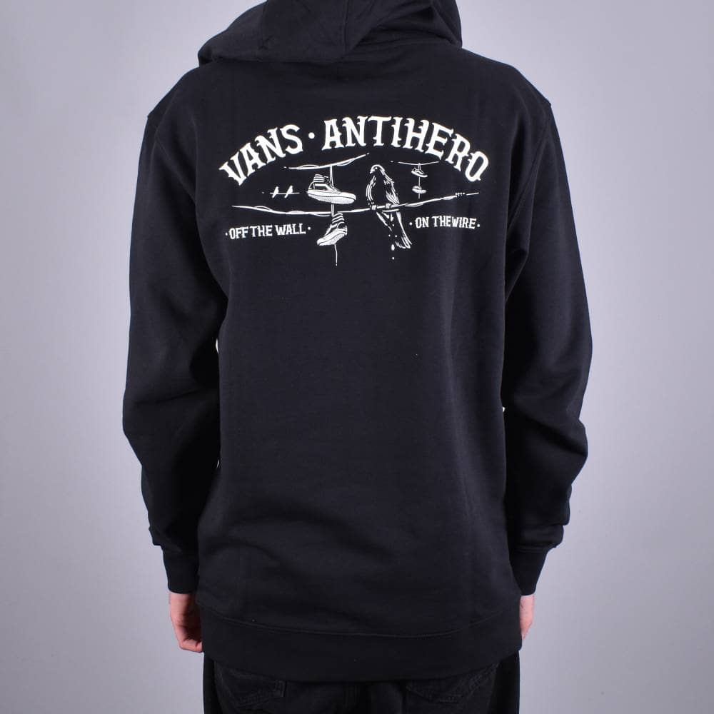 b0d050eb23 Vans X Antihero On The Wire Pullover Hood - Black - SKATE CLOTHING ...