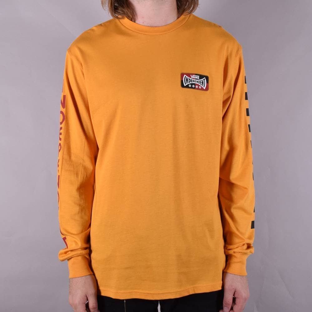 dcd515beb429 X Independent Checkerboard Long Sleeve Skate T-Shirt - Sunflower