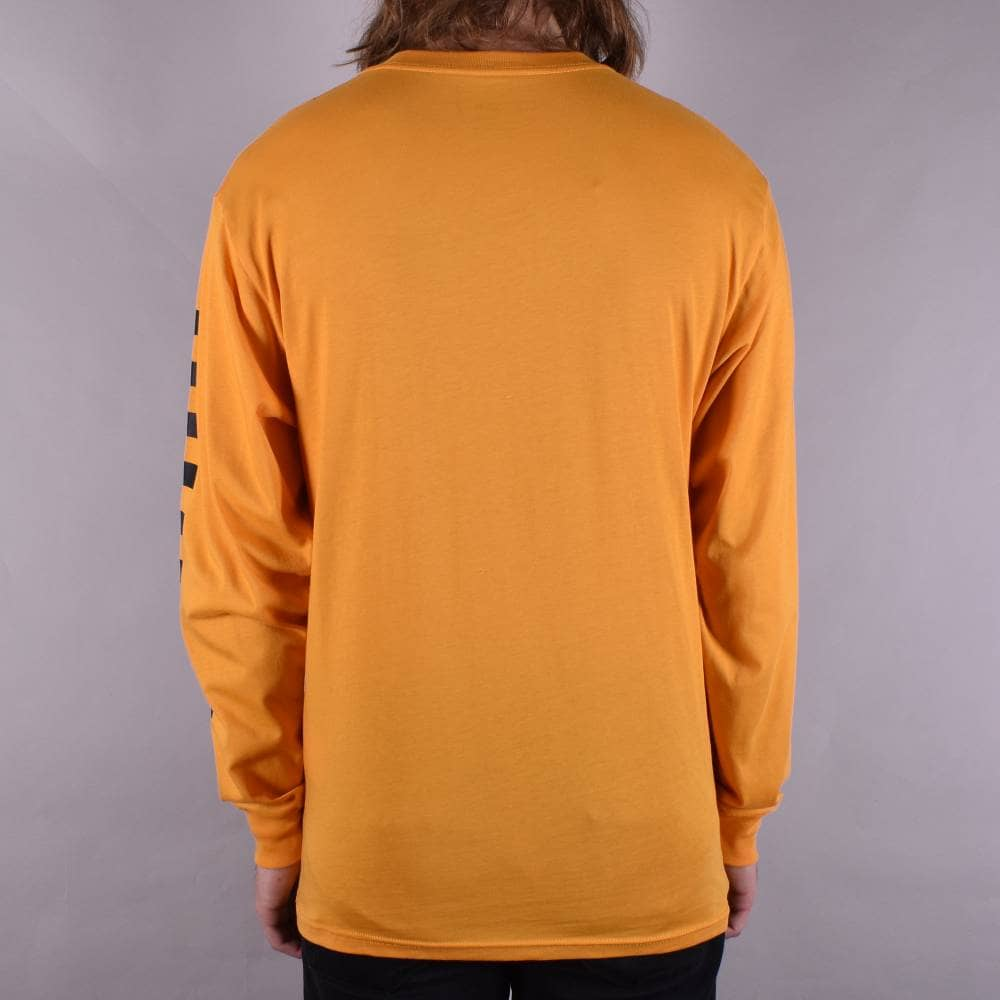 a2acba8cc72 X Independent Checkerboard Long Sleeve Skate T-Shirt - Sunflower