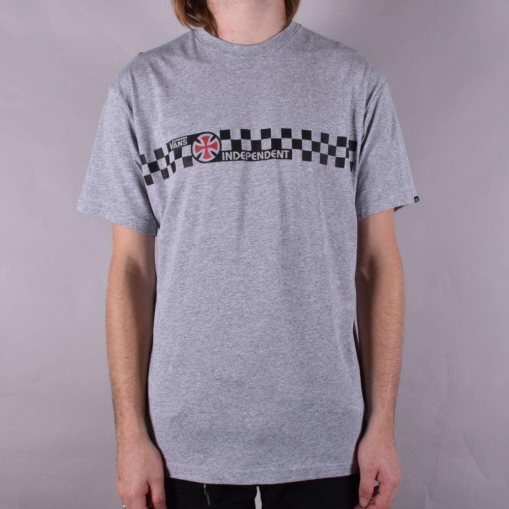 4314b40dfa Vans X Independent Checkerboard Skate T-Shirt - Athletic Heather ...