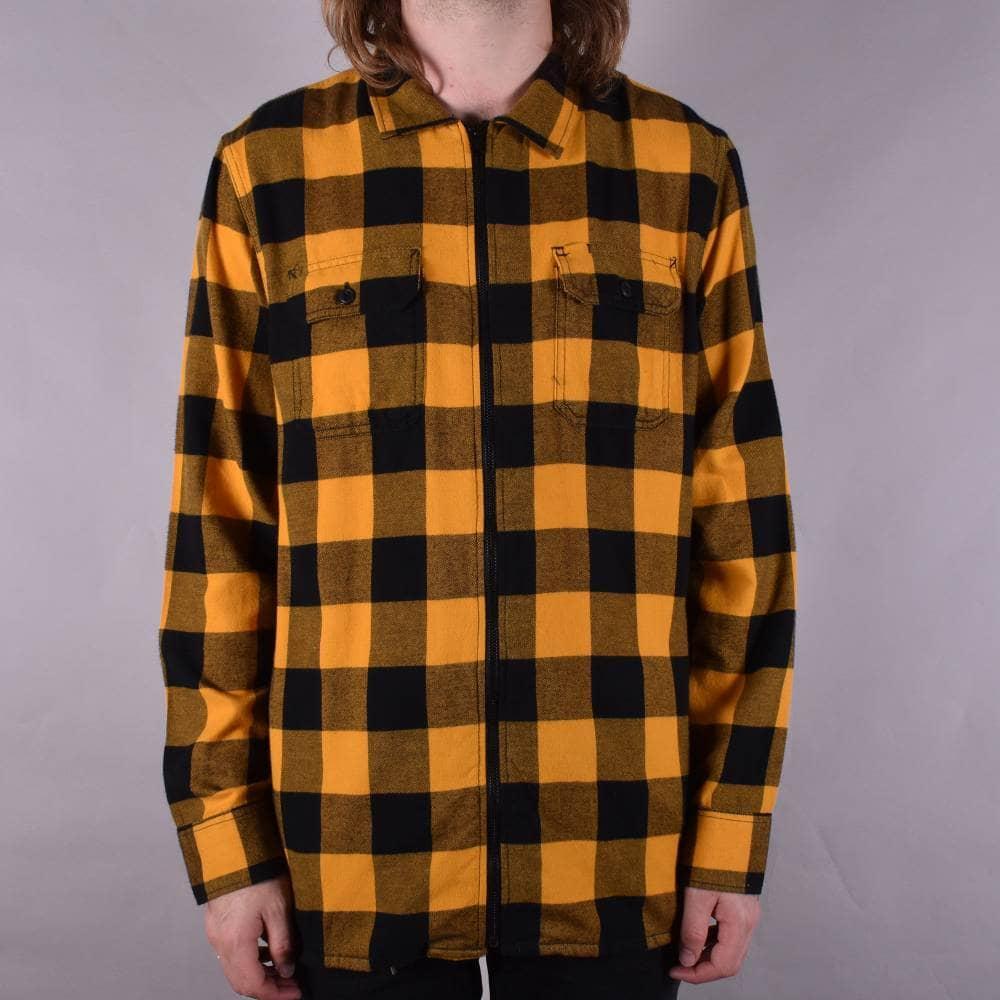 a0f512cfad5 Vans X Independent Zip Flannel Shirt - Sunflower - SKATE CLOTHING ...
