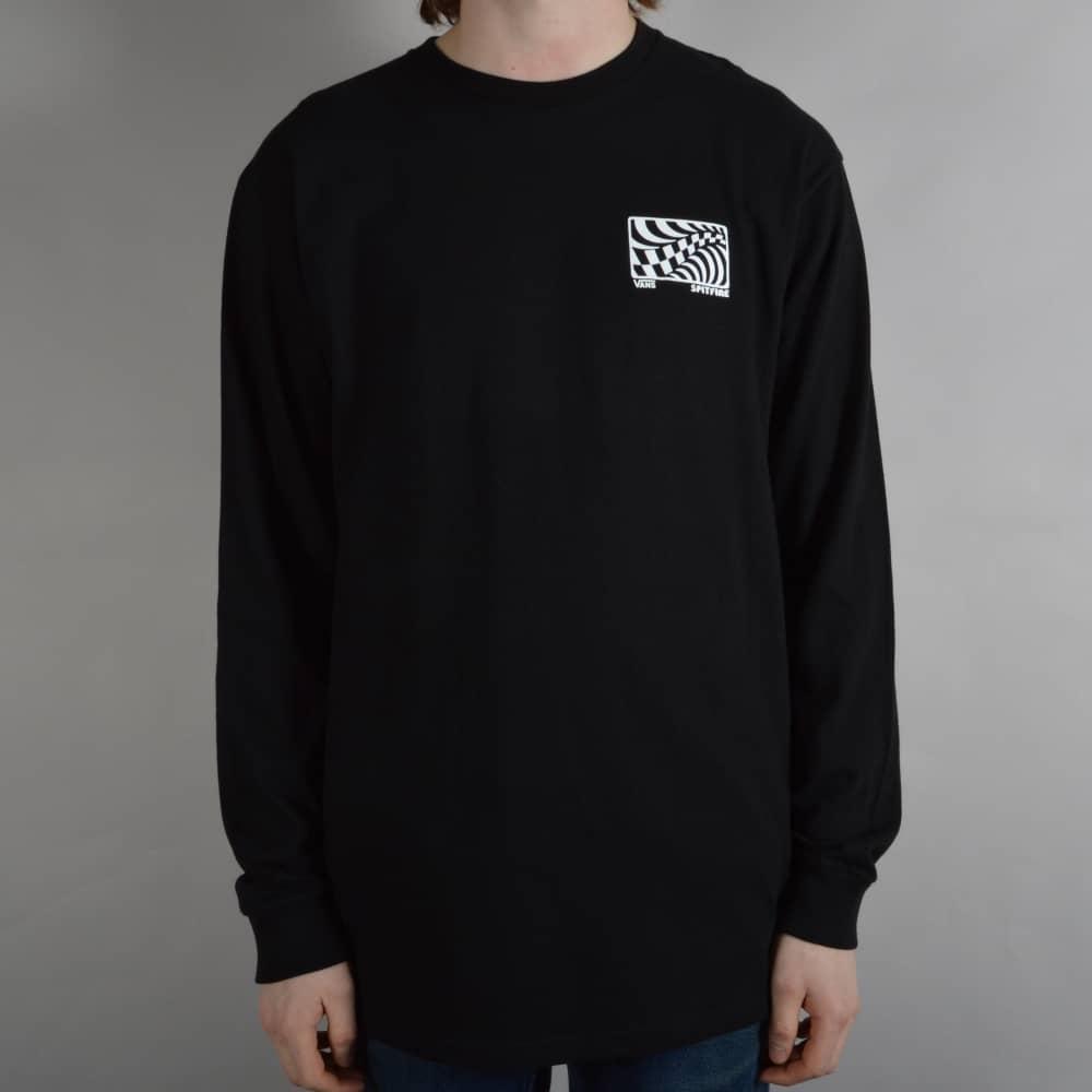 24f47356cc Vans X Spitfire Long Sleeve Skate T-Shirt - Black - SKATE CLOTHING ...