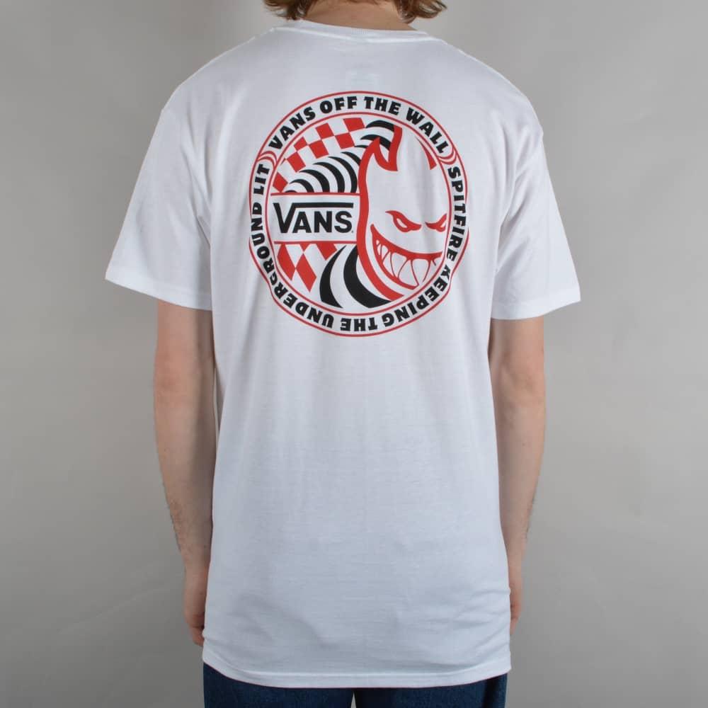 37c7af841b Vans X Spitfire Skate T-Shirt - White - SKATE CLOTHING from Native ...