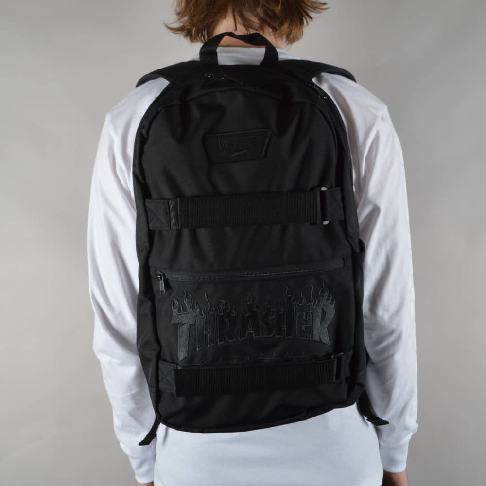 d48a027ca1 Vans x Thrasher Authentic 3 Skate Backpack - Black - ACCESSORIES ...