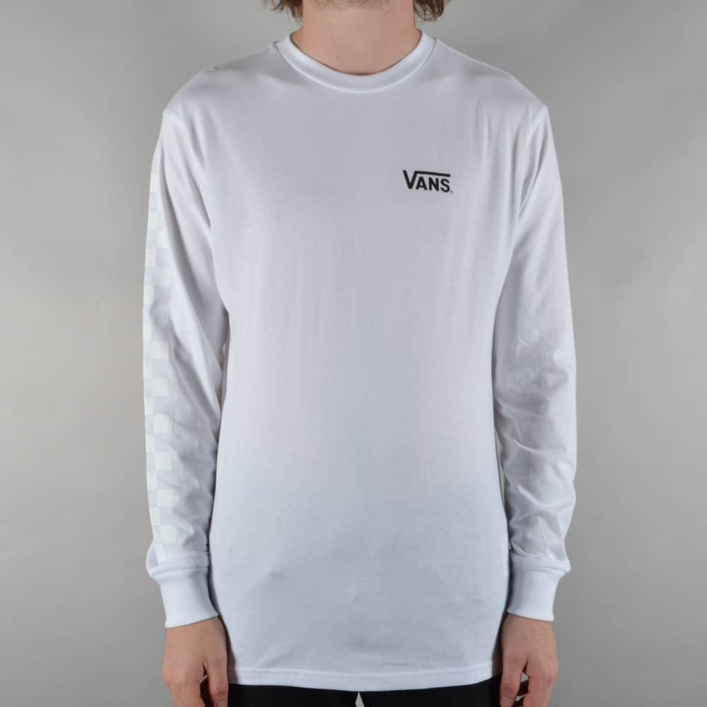 16035a2fe0ca Vans x Thrasher Checker Longsleeve T-Shirt - White - SKATE CLOTHING ...