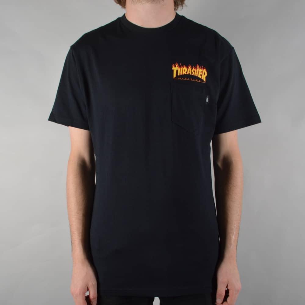ea32ee5be87f Vans x Thrasher Pocket T-Shirt - Black - SKATE CLOTHING from Native ...