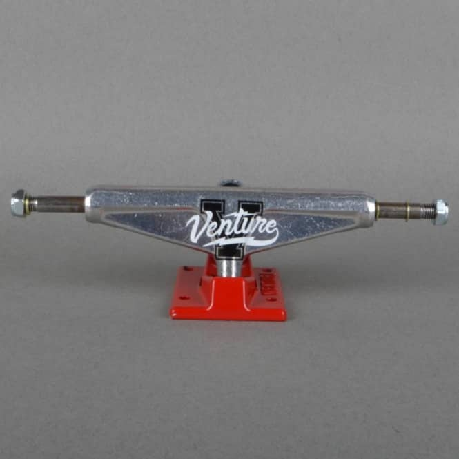 Venture Trucks Overlay Polish/Red Low Skateboard Trucks 5.25''