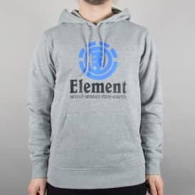 Vertical Pullover Hooded Top - Grey Heather
