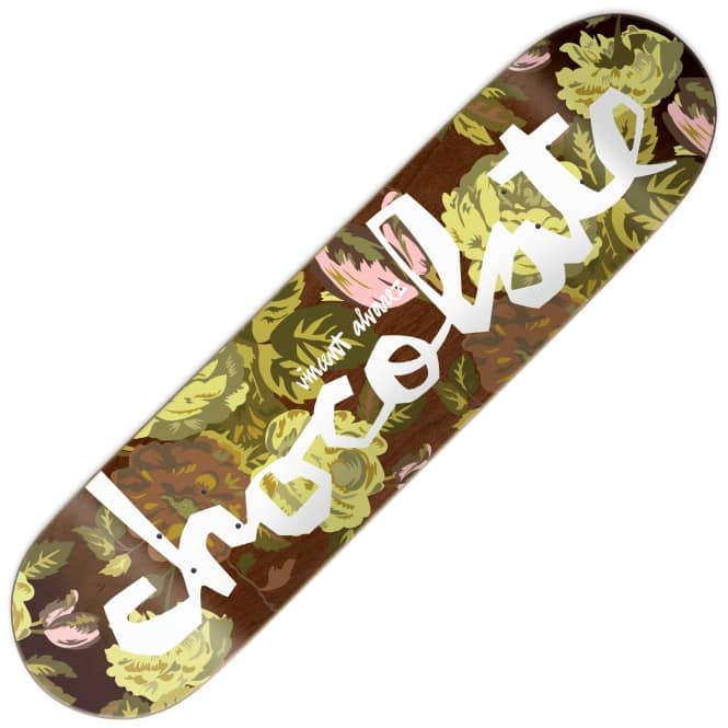 Chocolate Skateboards Vincent Alvarez Floral Chunk Skateboard Deck 8""