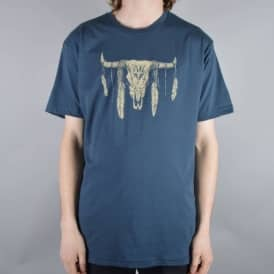 Cow Skull T-Shirt - Navy