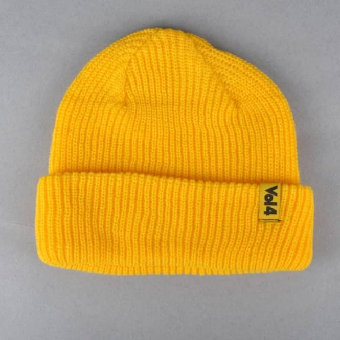 VOL 4 (Volume 4) Logo Cuff Beanie - Yellow - Beanies from Native ... 5bfd704c0ce