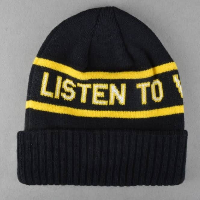 VOL 4 (Volume 4) South Side Beanie - Black Yellow - Beanies from ... 0a4dd18ec35