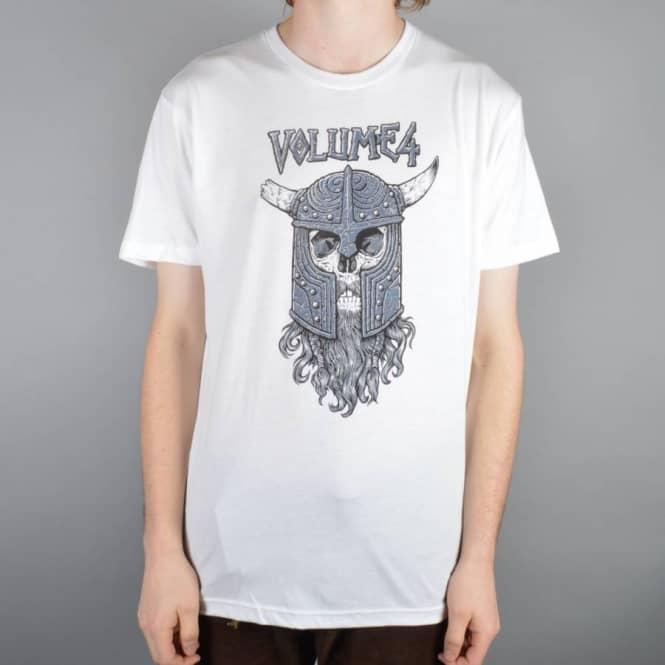 3a02b9ae VOL 4 (Volume 4) Viking T-Shirt - White - SKATE CLOTHING from Native ...
