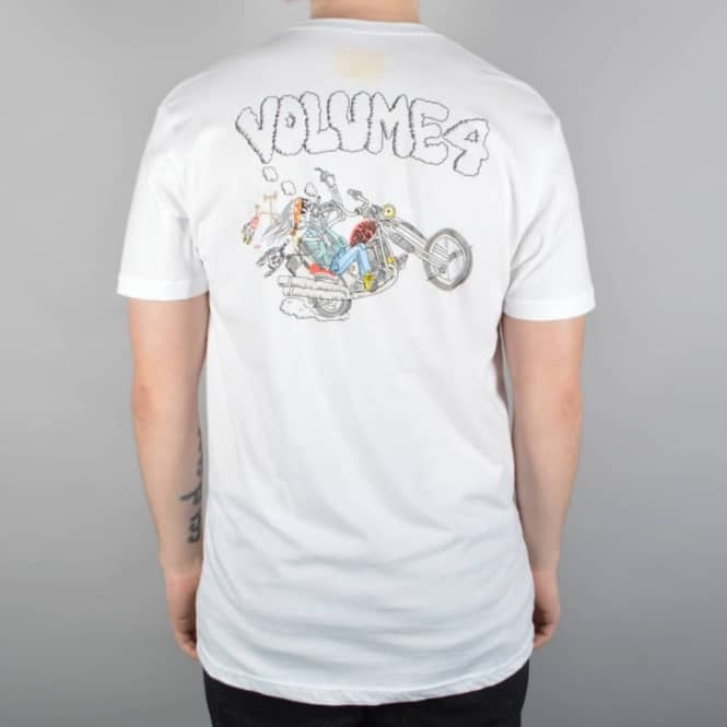 VOL 4 (Volume 4) Wildchild Skate T-Shirt - White