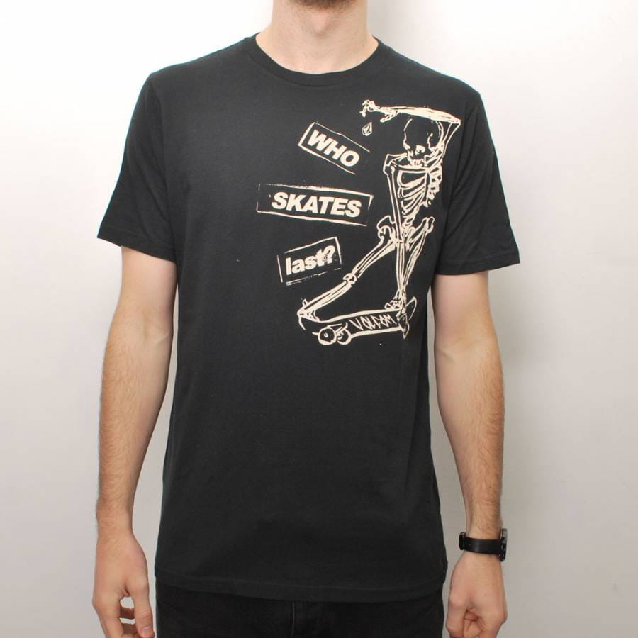 volcom volcom who skates last slim fit t shirt black