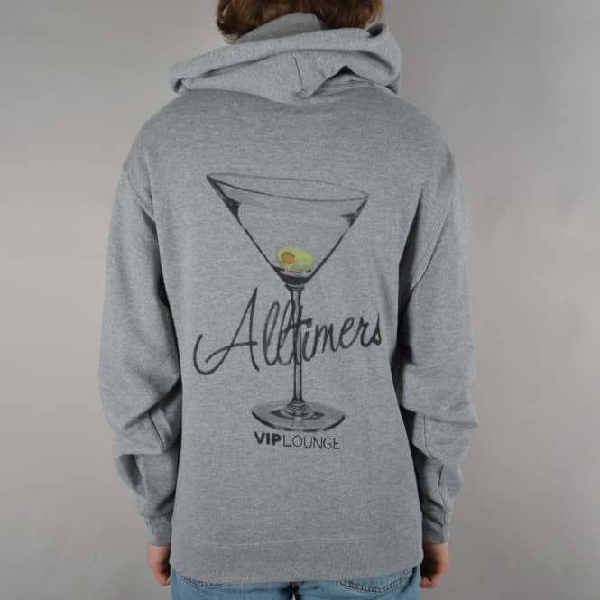 Alltimers Watercolor Logo Pullover Hoodie - Heather Grey
