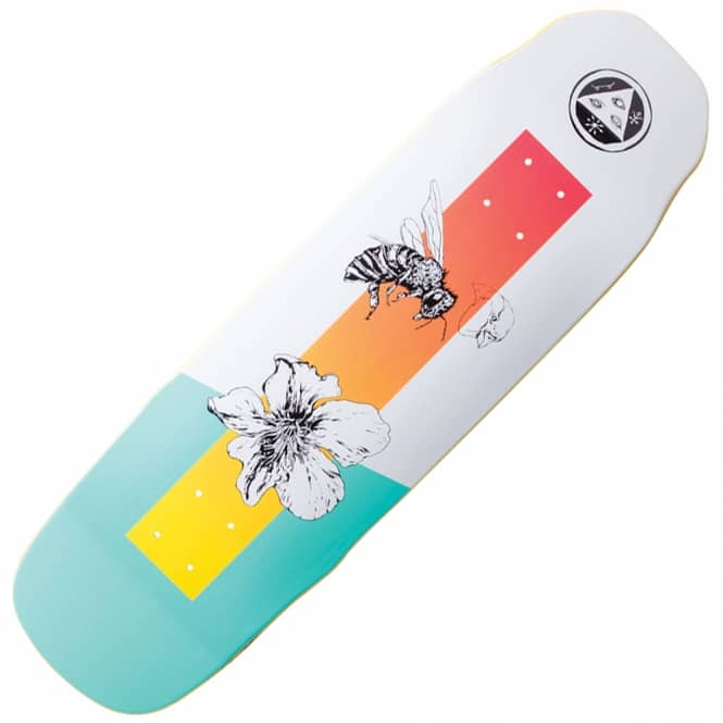 Welcome Skateboards Adaptation On Sledgehammer (White/Teal) Skateboard Deck 9.0