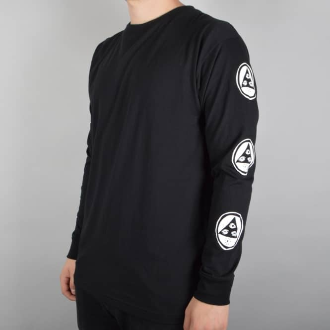 Welcome Skateboards Binary Longsleeve T-Shirt - Black