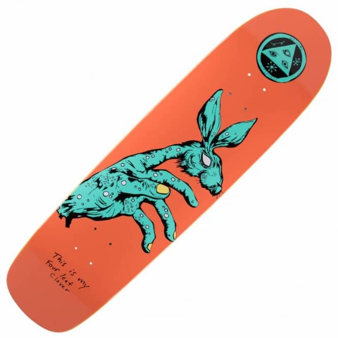 Welcome Skateboards Circus Hand On Waxing Moon Skateboard Deck 8.5''