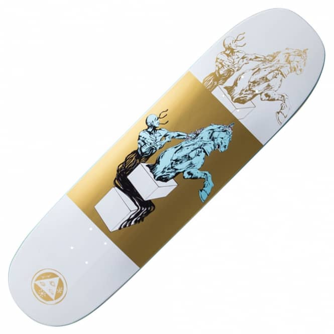 Welcome Skateboards Heirophant On Moontrimmer 2.0 (White/Gold) Skateboard Deck 8.5