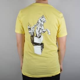Welcome Skateboards Heirophant Skate T-Shirt - Yellow