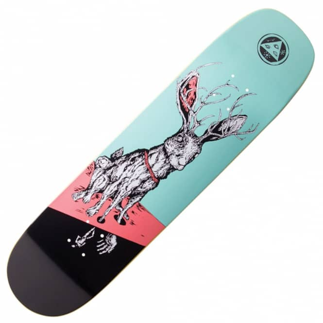 Welcome Skateboards Help On Phoenix (Teal/Black) Skateboard Deck 8.0