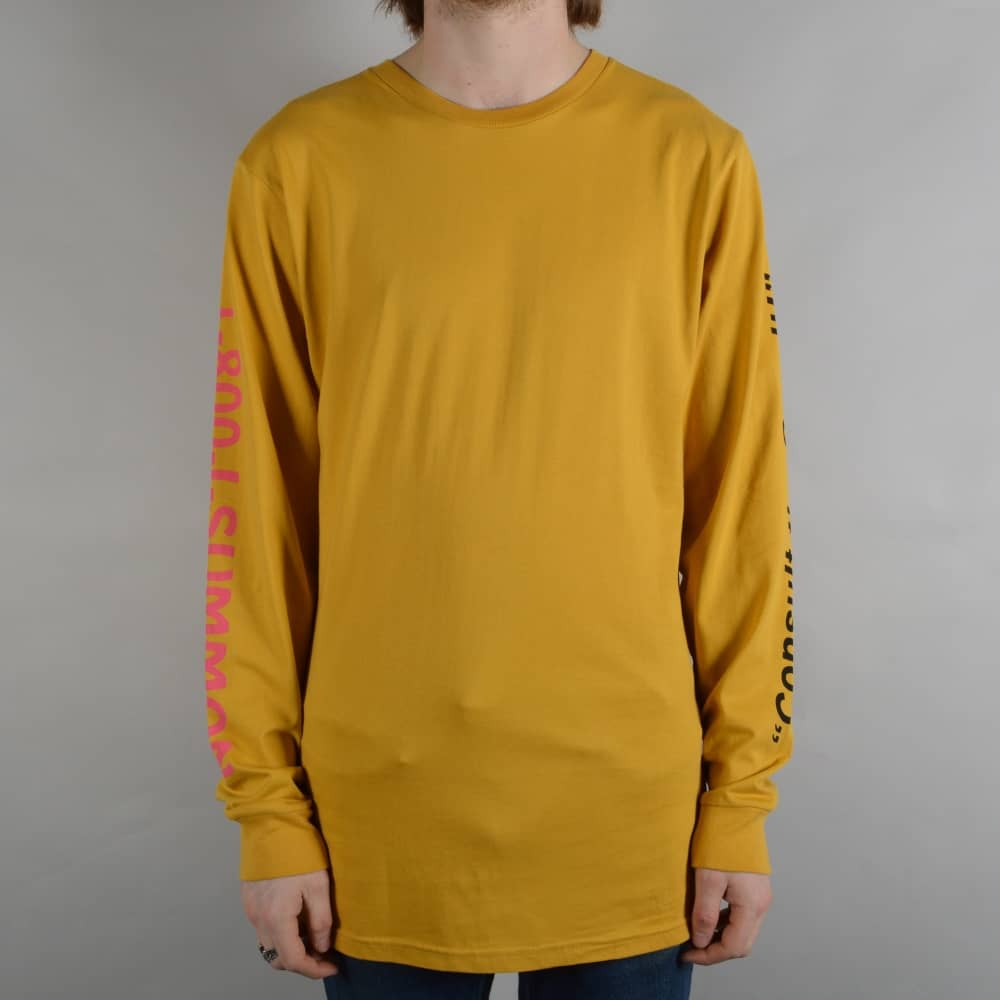 dd7344fb7d0 Welcome Skateboards Hotline Longsleeve T-Shirt - Mustard - SKATE ...