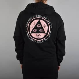 Welcome Skateboards Latin Talisman Pullover Hoodie - Black/Pink