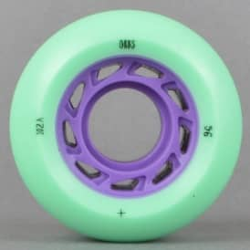 Welcome Skateboards Orbs Ghost Lites Mint/Lavender Skateboard Wheels 56mm