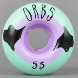 Welcome Skateboards Orbs Poltergeists Solid Core Aqua/Purple Skateboard Wheels 53mm