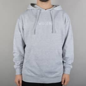 Scrawl Embroidered Pullover Hoodie - Heather Grey