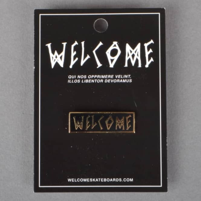 Welcome Skateboards Scrawl Enamel Pin Badge
