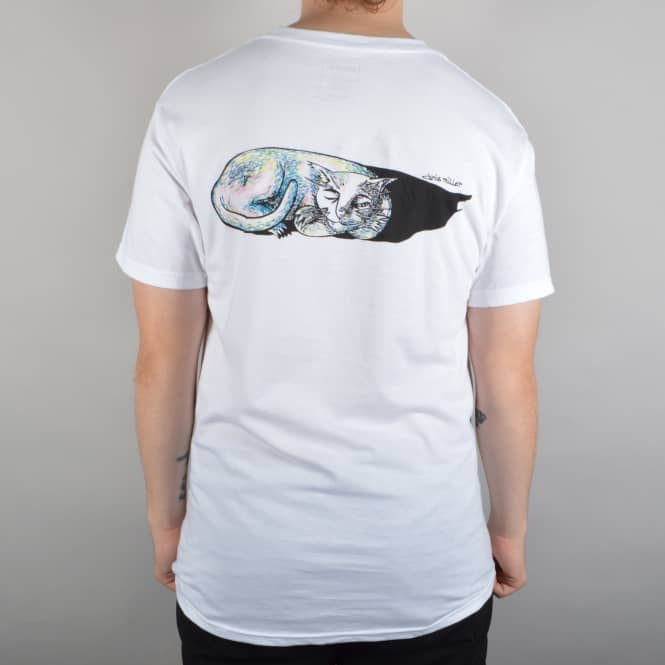 Welcome Skateboards Sleeping Cat Skate T-Shirt - White