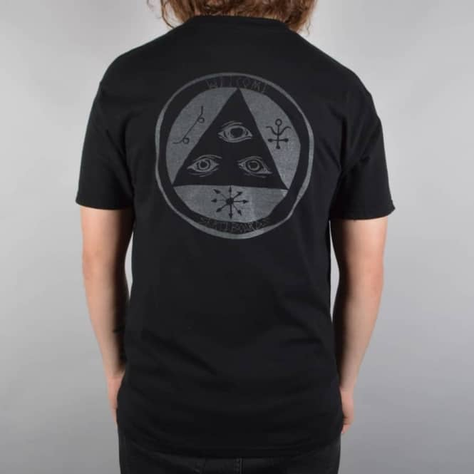 Welcome Skateboards Talisman Skate T-Shirt - Black/Glow