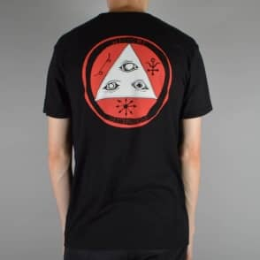 Welcome Skateboards Talisman Tri Colour Skate T-Shirt - Black/Red/White