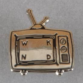 TV Logo Pin Badge