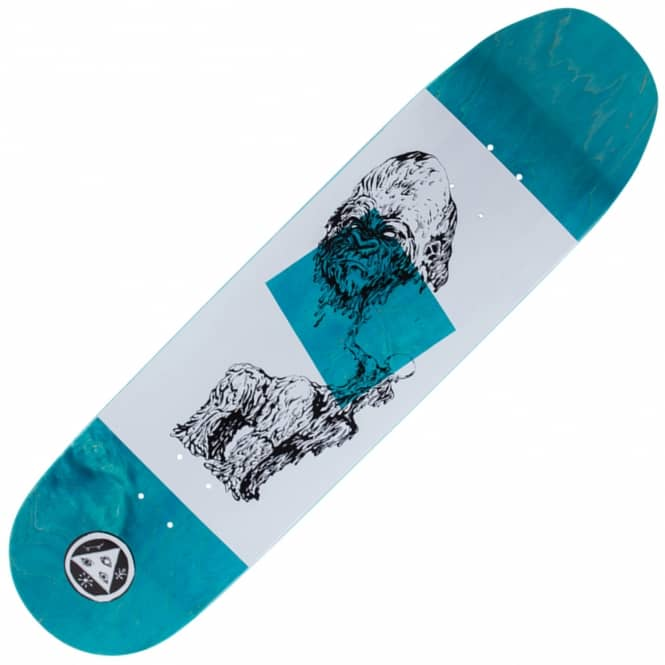 Welcome Skateboards Wax Gorilla On Baculus Blue Stain Skateboard Deck 8.75