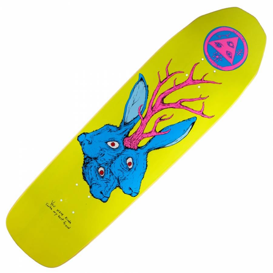 Welcome Skateboards Wolfgod on Wormtail Skateboard Deck 8 ... |Welcome Skateboards Bird Graphics