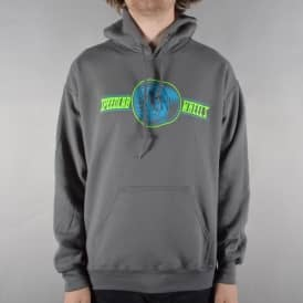 Wheel Logo Pullover Hoodie - Charcoal