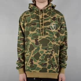 Wheeler Camo Pullover Hoodie - Olive Camo