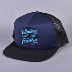 Whiskey Makes Me Frisky Trucker Cap - Navy/Black