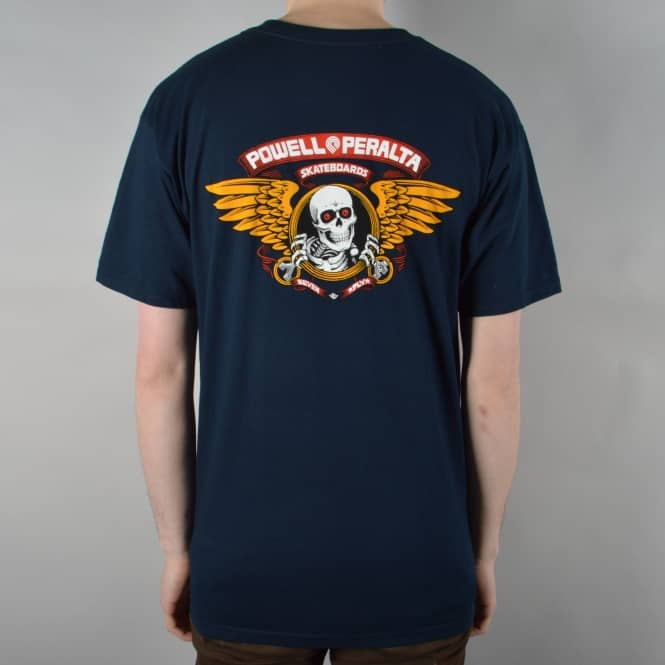 Powell Peralta Winged Ripper Skate T-Shirt - Navy