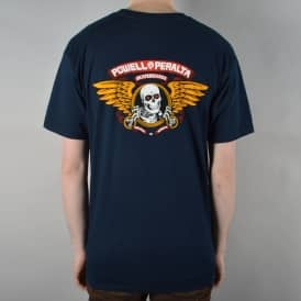 Winged Ripper Skate T-Shirt - Navy