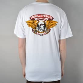 Winged Ripper Skate T-Shirt - White